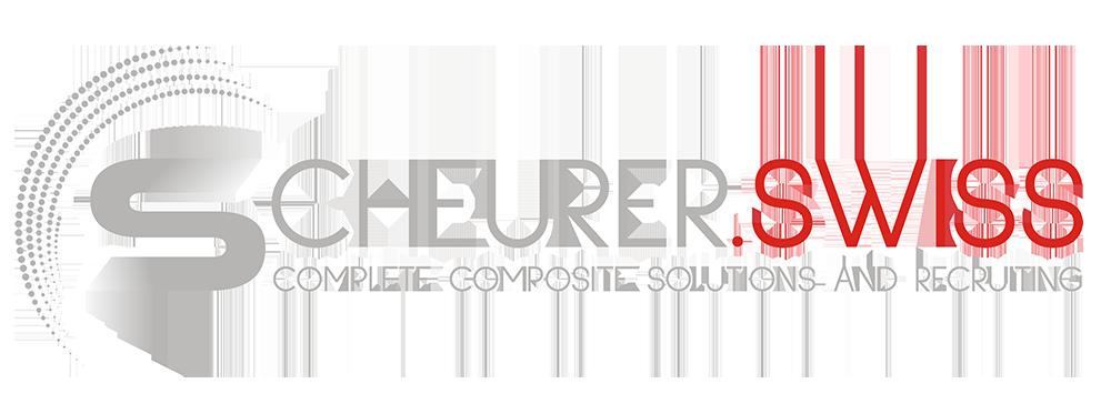 Logo Scheurer Swiss GmbH: Das neue Logo der Schweizer Faserverbundspezialistin und Recruiterin steht für Dynamik, Innovation und Kompetenz im Erbringen von Höchstleistungen gepaart mit einem global einzigartigen Rundumservice - für hocheffiziente individuelle und bedarfsgerechte Kundenlösungen mit optimalem Kosten-Nutzen-Verhältnis.