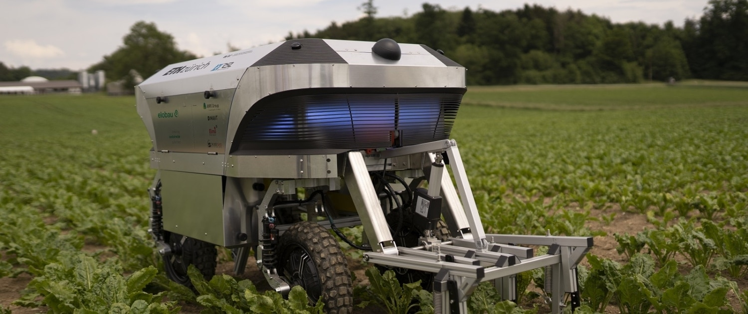 """Scheurer Swiss supports the focus project """"Rowesys"""" - Robotic Weeding System - of the ETH Zurich as a gold sponsor."""