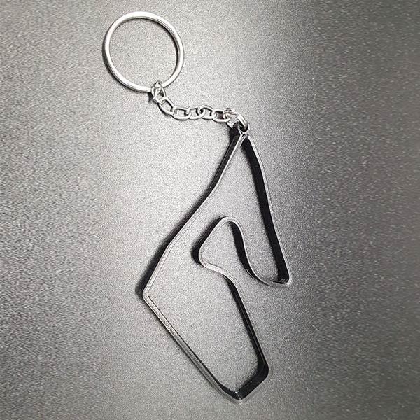 Rennstrecke Red Bull Ring, stylischer Schlüsselanhänger für Motorsportfans, aus strapazierfähigem Nylon mit Schlüsselring, Grösse ca. 8 cm.